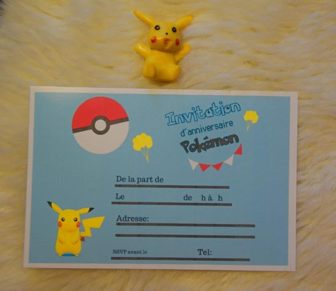 Anniversaire Cartes D Invitation Pokemon à Imprimer