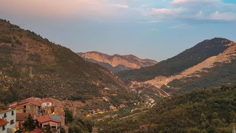 Panorama de la vallée de Serro Superiore au-dessus de Vintimille