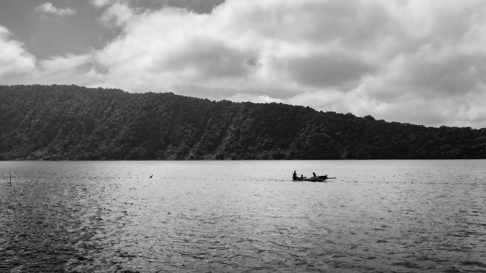 Le lac Bratan, sur lequel se trouve le temple Pura Ulun Danu Bratan
