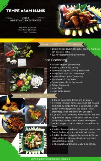 Recette du Asam Manis du cours de cuisine Pemulan Fram à Bali