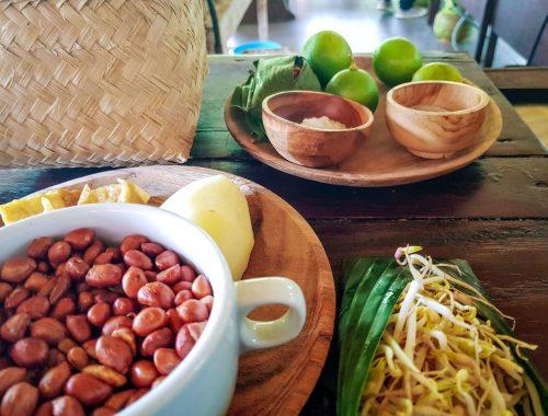 Cours de cuisine balinaise et ingrédients frais