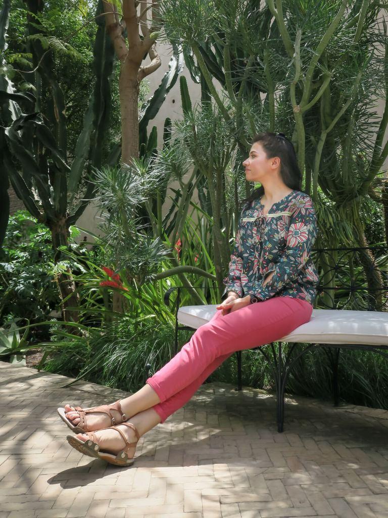 Aude au Jardin Secret de Marrakech