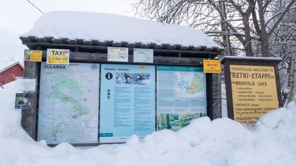 Panneaux de signalisation à Juuma, Laponie Finlandaise