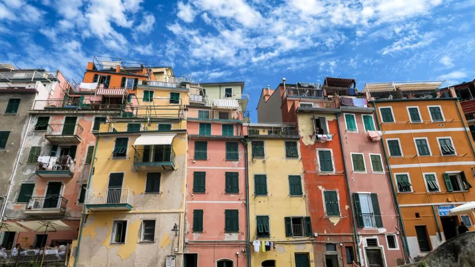 Les façades colorées de Riomaggiore, Cinque Terre
