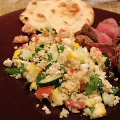Tandoori Sirloin with Summer Couscous