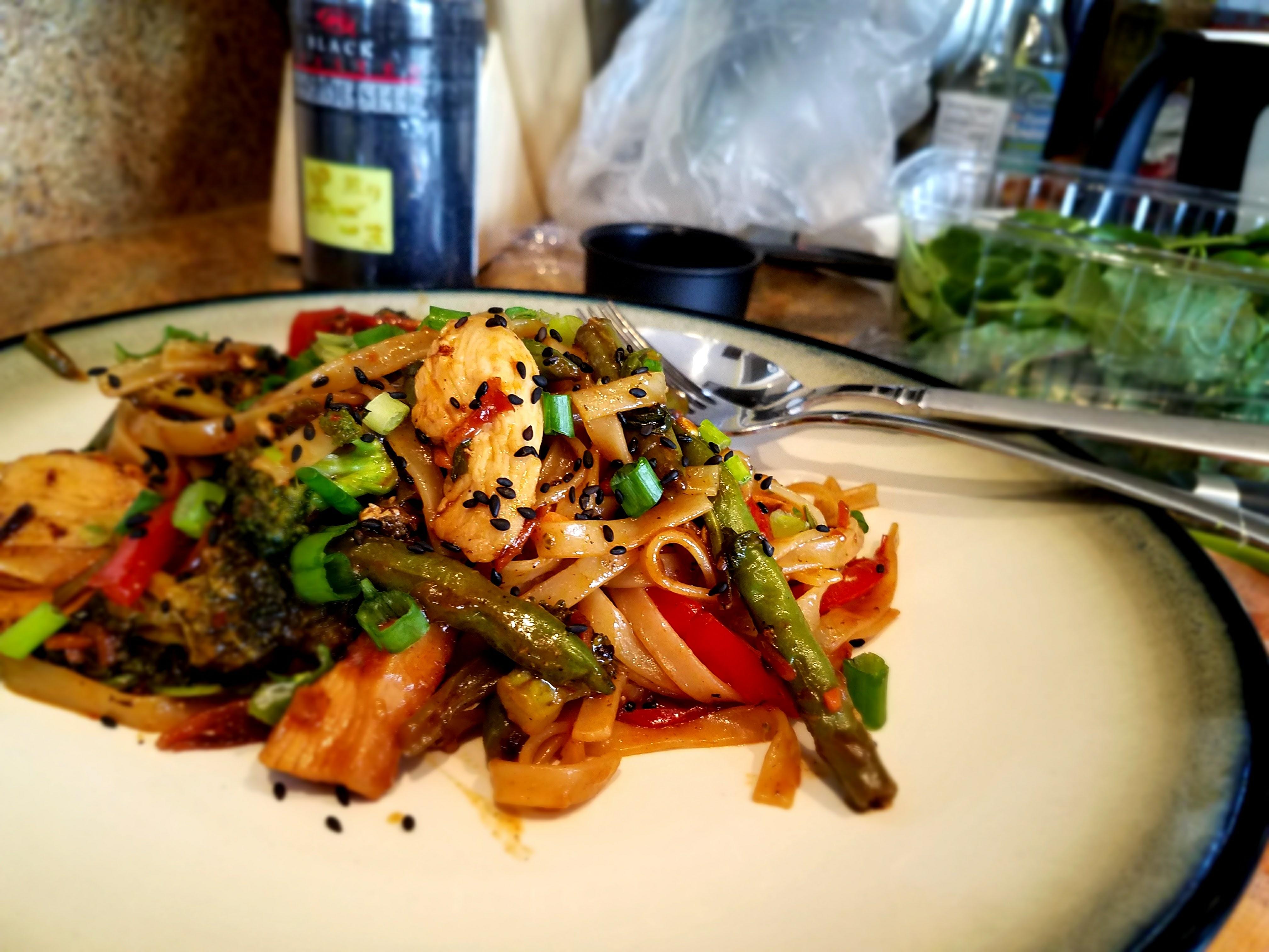 Asian Chicken Noodle Stir-fry