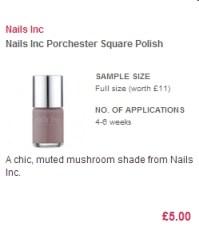 Nails Inc  Polish in 'Porchester Square'