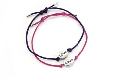 Dorothy Perkins 'Love' bracelets Breast Cancer Awareness
