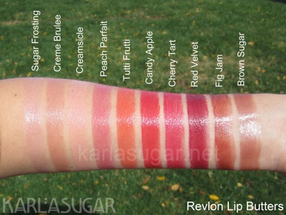 Revlon Lip Butters Swatches by Karlasugar.net