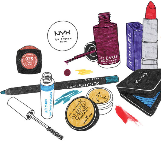 50 Best Beauty Buys Under £10 Illustration by Agnese Biocchi