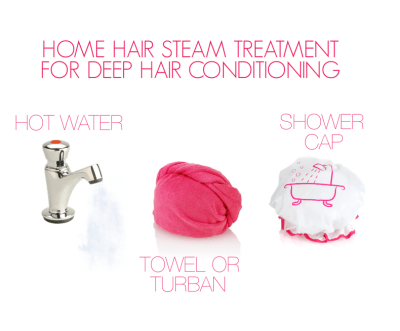 HOME STEAM TREATMENT FOR HAIR