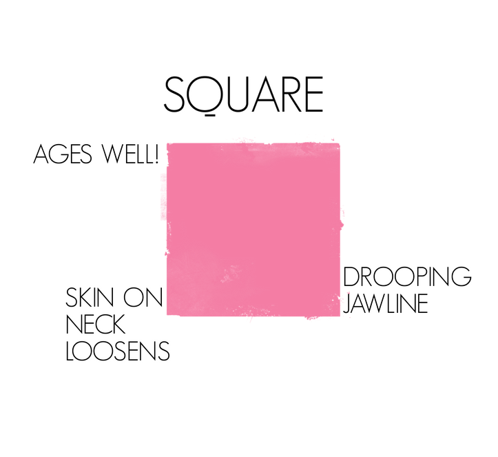 How square face shapes age