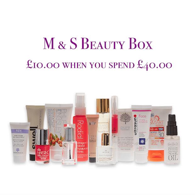 M & S Summer Beauty Box Offer