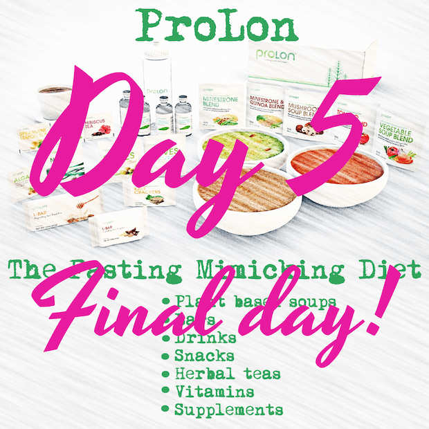 ProLon® Fasting Mimicking Diet – DAY 5 Final Day – Unfading