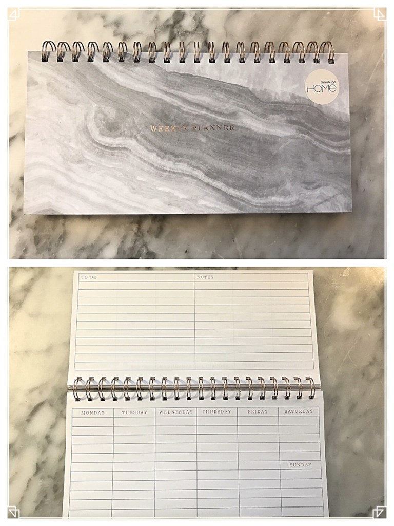 Sainsbury's Ethereal Marble Wiro Desk Planner