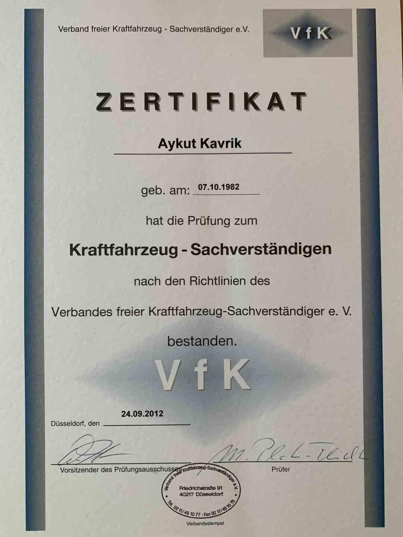 Kfz-Gutachter