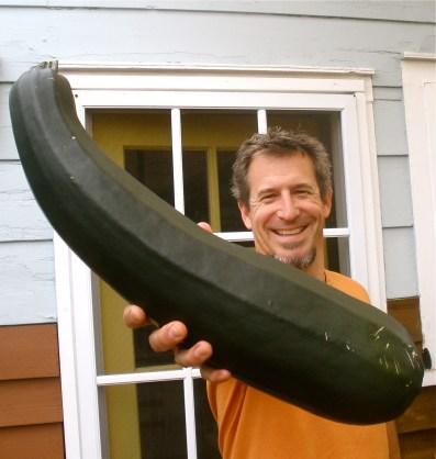 Jon with Giant Zucchini