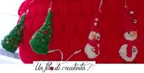 Albero di Natale e pupazzo di neve TRIDIMENSIONALI