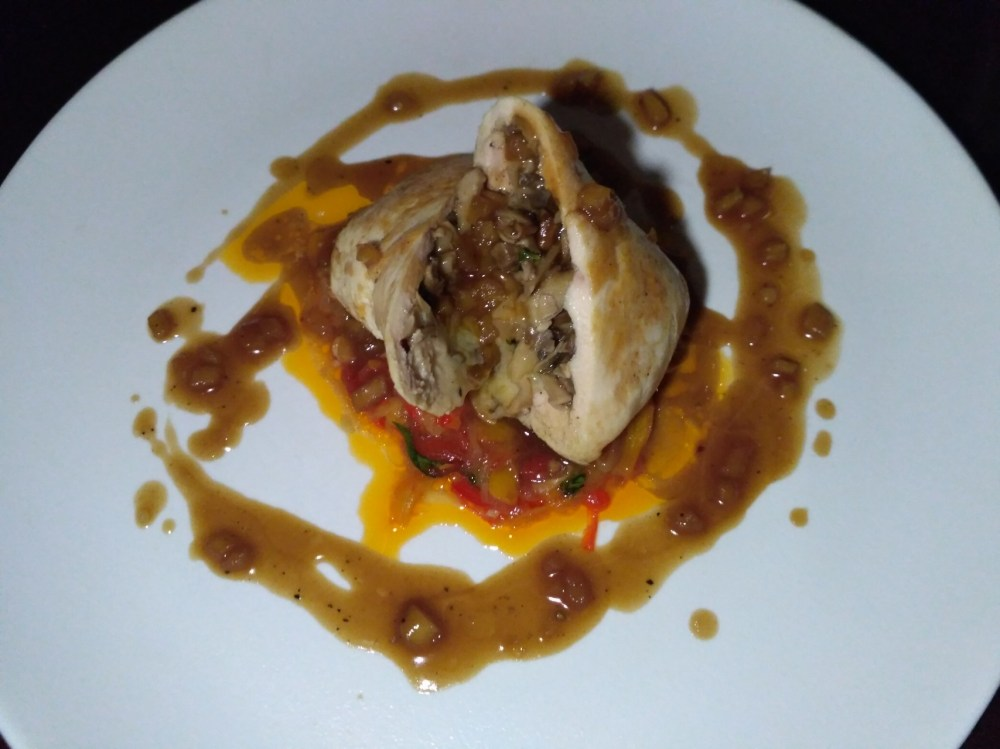 Chicken Roulade with Apple Jus