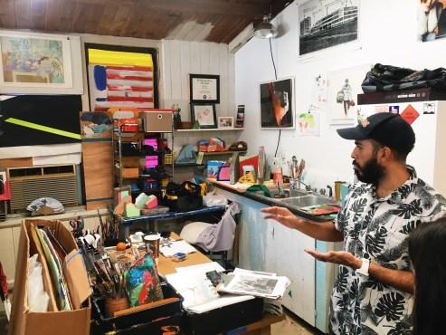 Studio view with Raul Gonzalez.