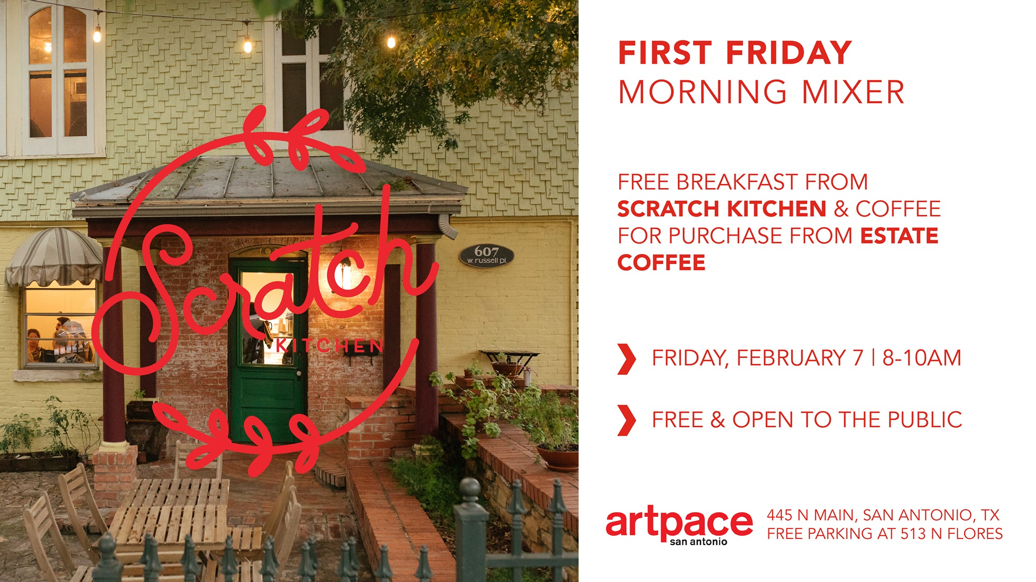 First Friday Morning Mixer With Scratch Kitchen Unfiltered Sa