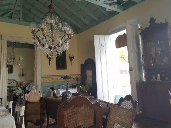 Inside Sol Ananda restaurant, Trinidad
