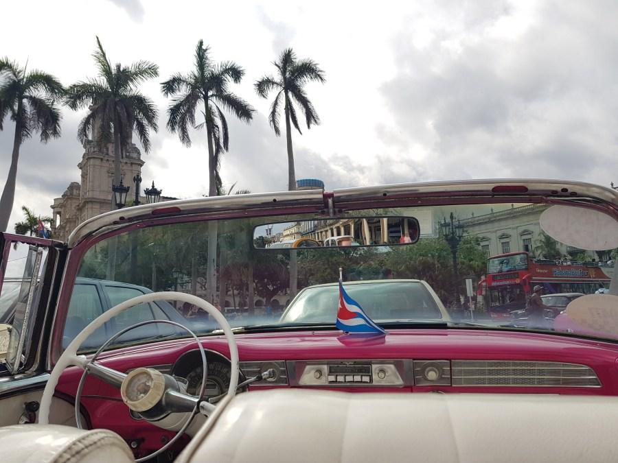 Classic car view in Havana