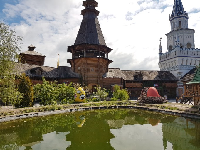 The pond inside Izmailovsky market