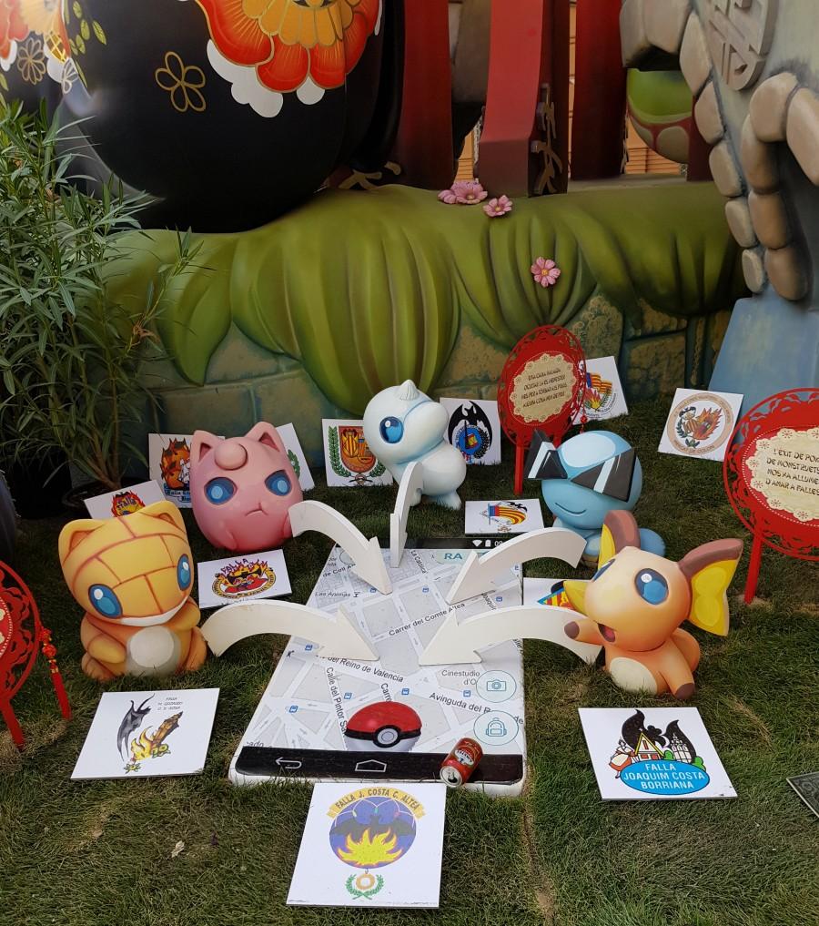 Pokemon fallas in Valencia