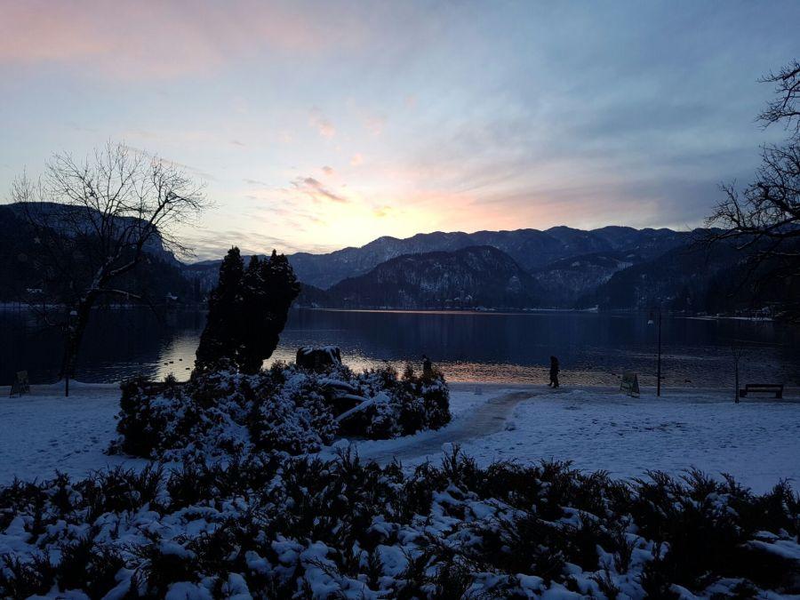 Sunset at Lake Bled