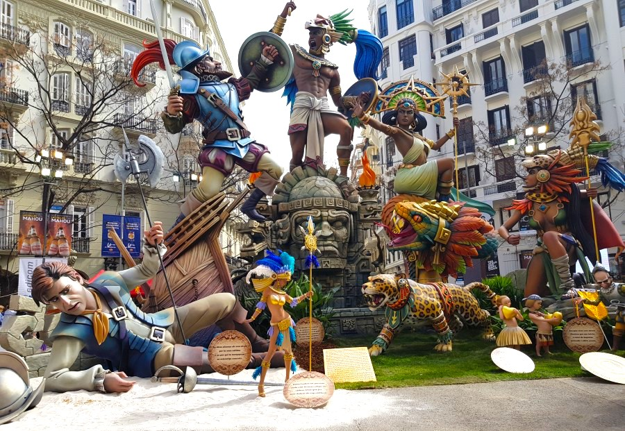 One of the bigger fallas at the quirky festival