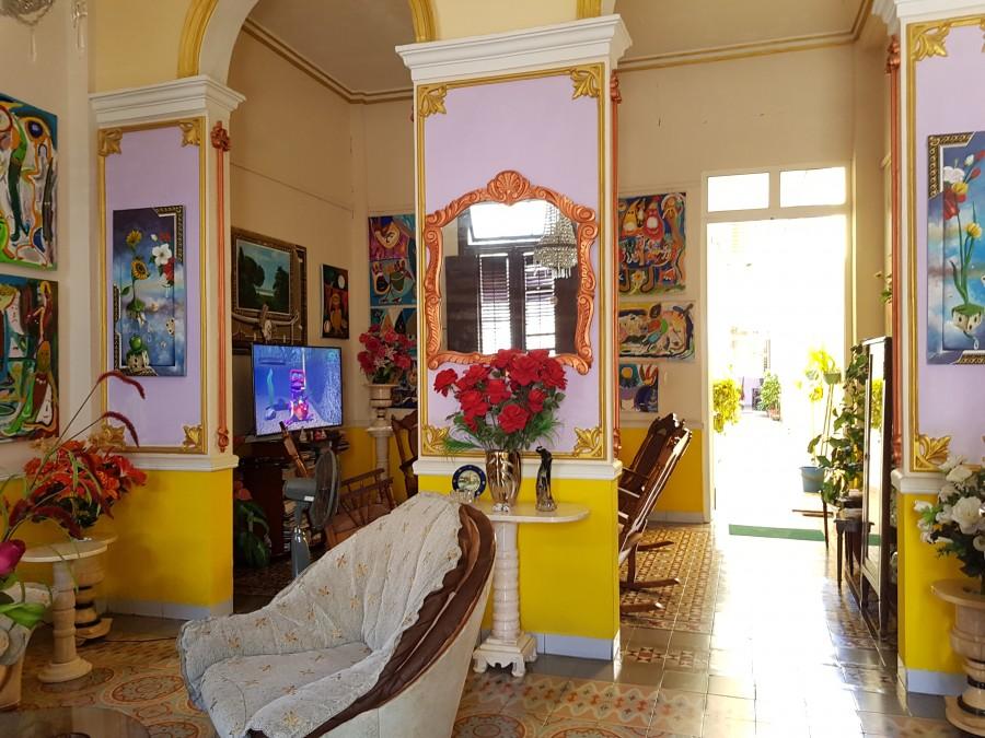 Living room at Hostal Cuba Linda
