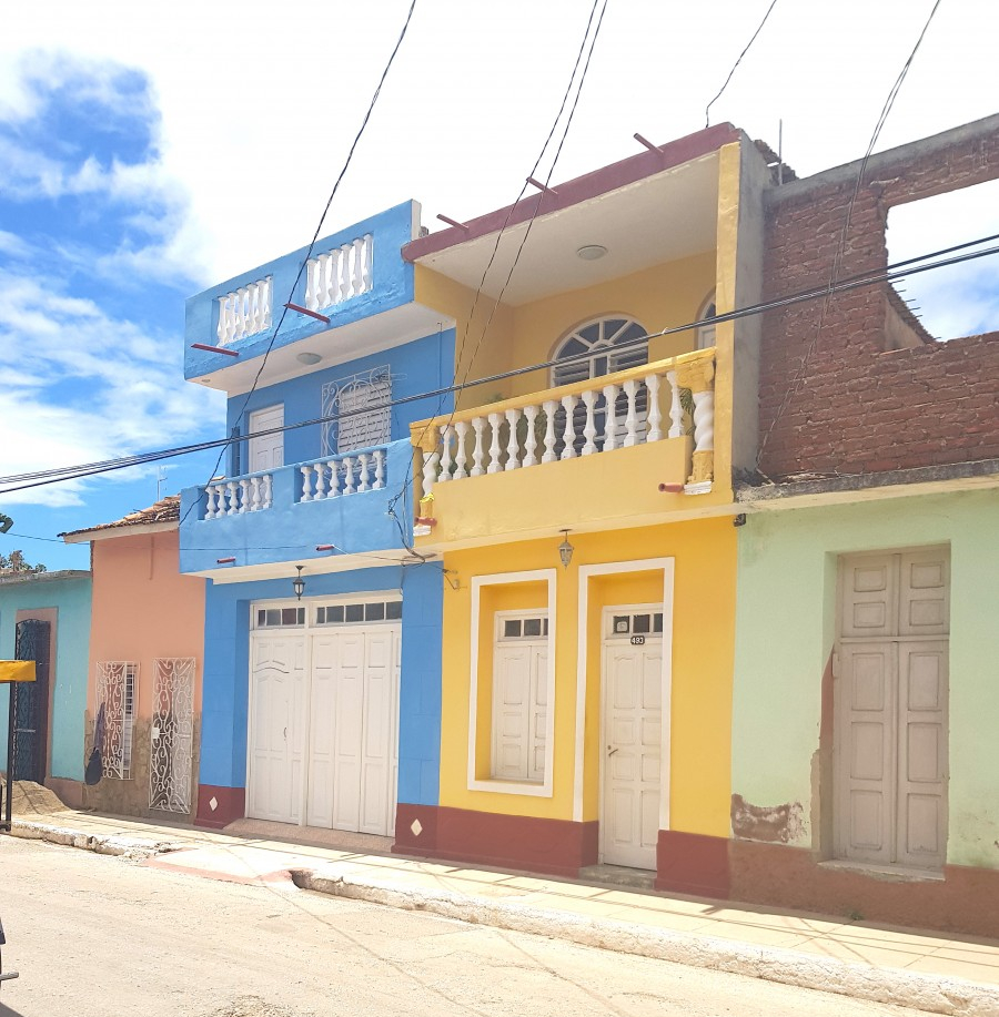 Colourful balconies in Trinidad