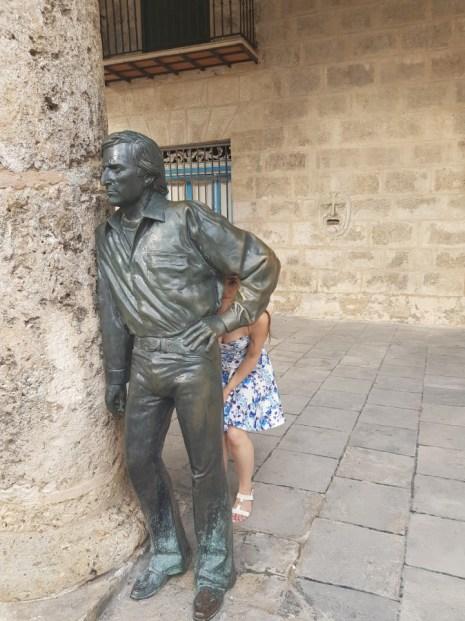 Monument to Antonio Gades a famous flamenco dancer (in the Plaza de la Cathedral)