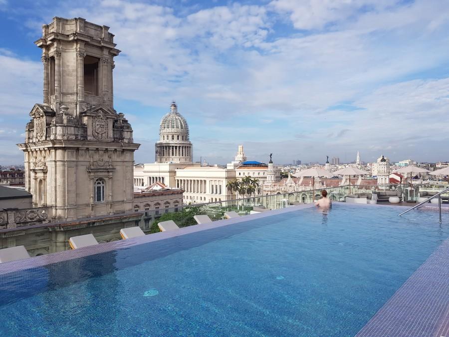 Rooftop pool at Gran Hotel Manzana Kempinski Havana