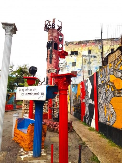 Colourful art in Callejon de Hamel, Cuba