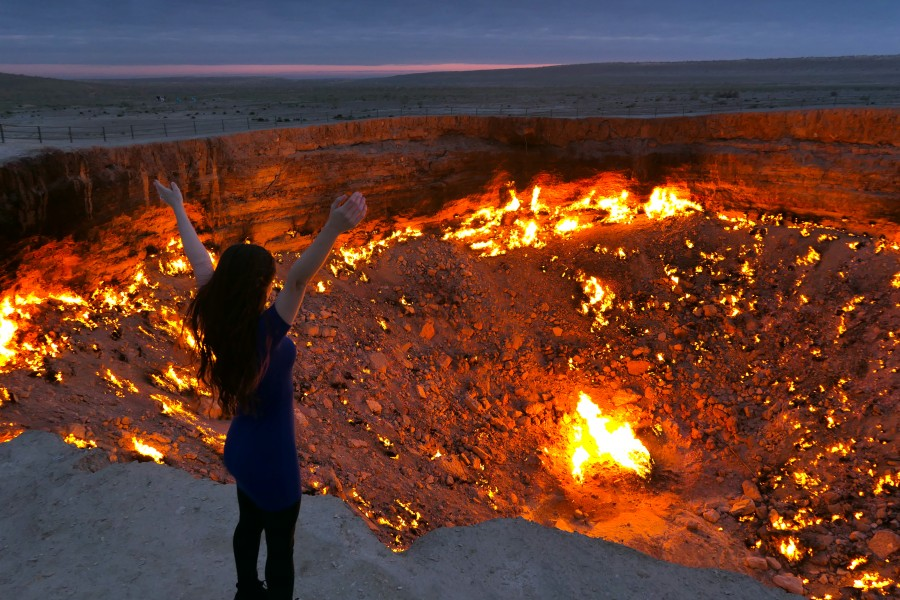 The Door To Hell (Darvaza Gas Crater) | Unfiltered Travelling