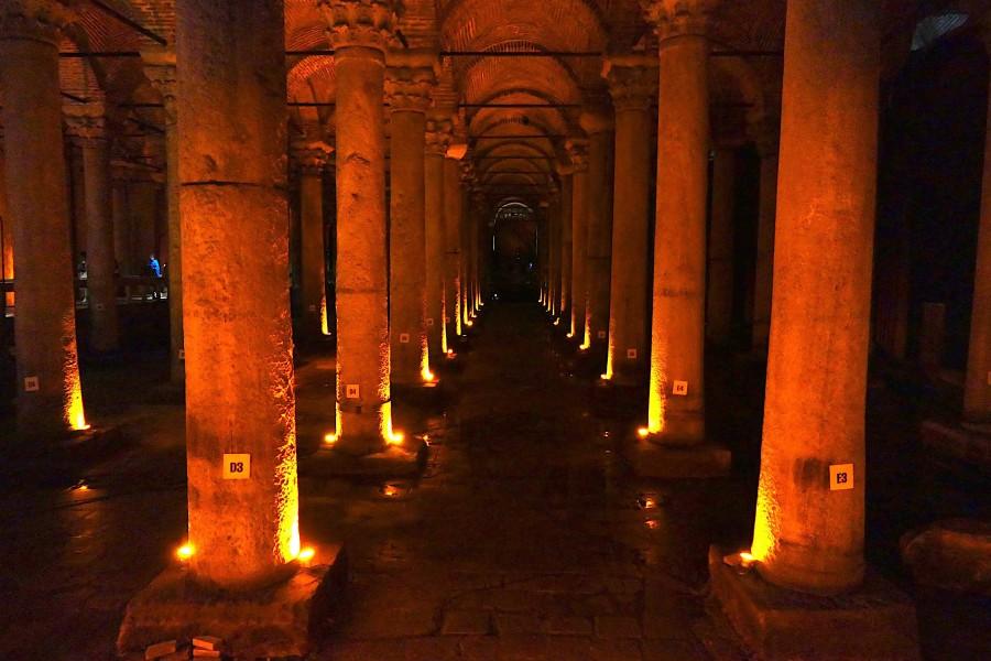Basilica Cistern- underground reservoir in Istanbul