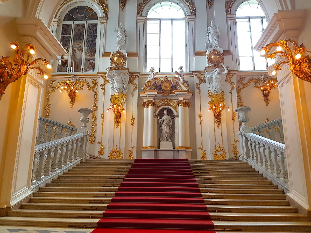 Stairs at the entrance of the Winter Palace