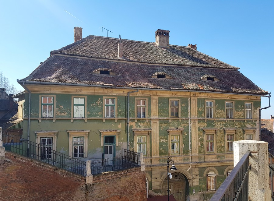 House with eyes in Sibiu
