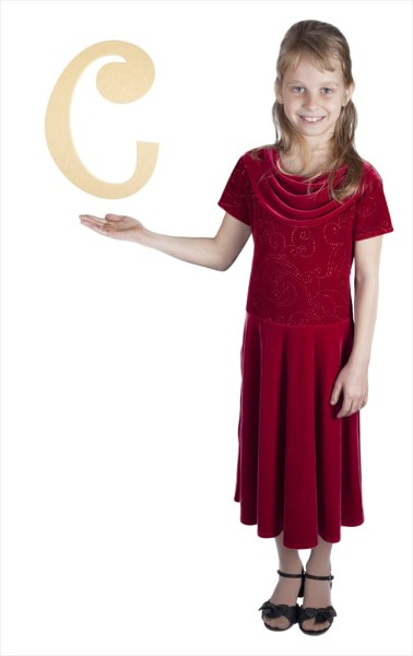 """Curly Letters 16"""" Letter C"""