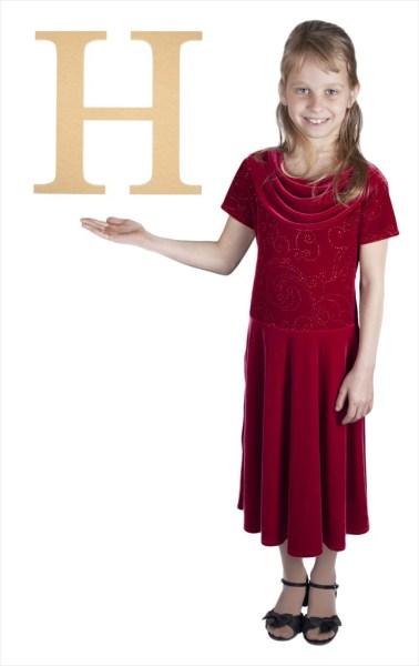 "Times New Roman 16"" Letter H"