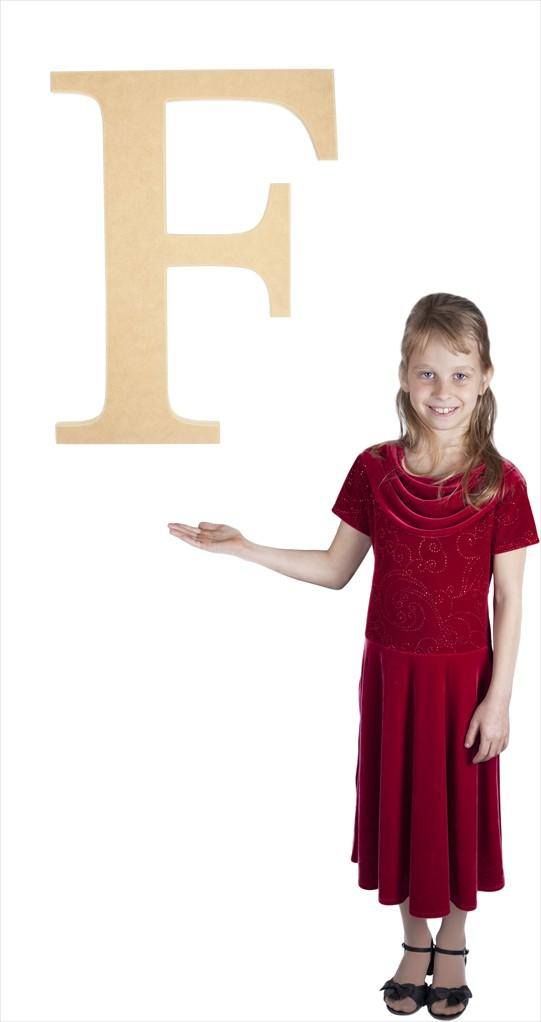 "Times New Roman 24"" Letter F"