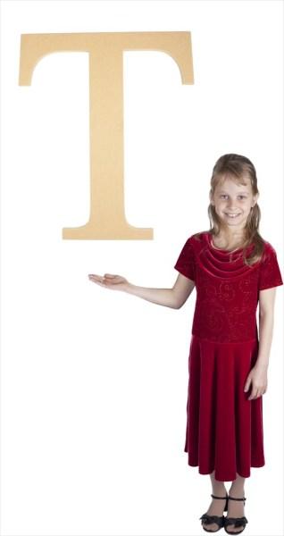 "Times New Roman 24"" Letter T"