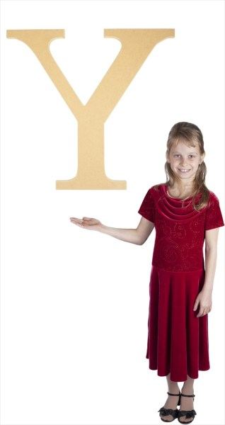 "Times New Roman 24"" Letter Y"