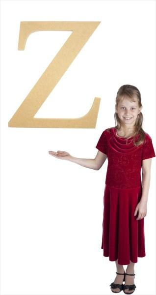 "Times New Roman 24"" Letter Z"