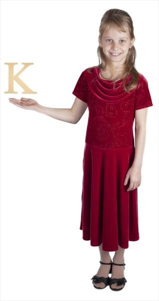 "Times New Roman 6"" Letter K"