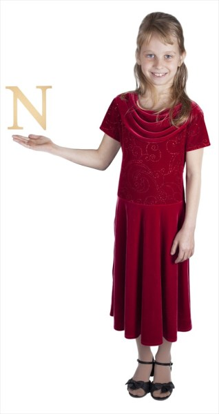 "Times New Roman 6"" Letter N"