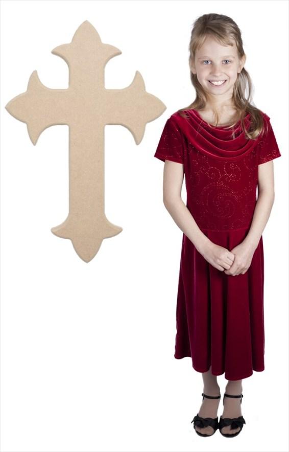 Fleur De Lis Cross (30x22)