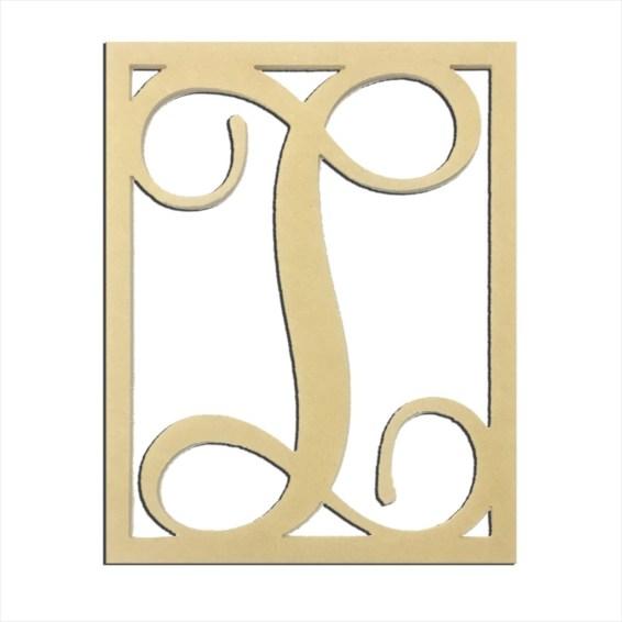 """14"""" Monogram Capital Letter I"""